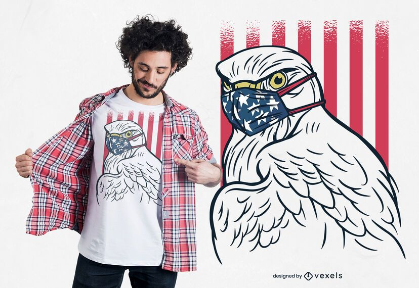 Eagle Face Mask T-shirt Design