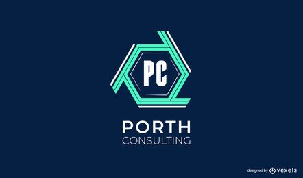 Design de logotipo da Porth Consulting