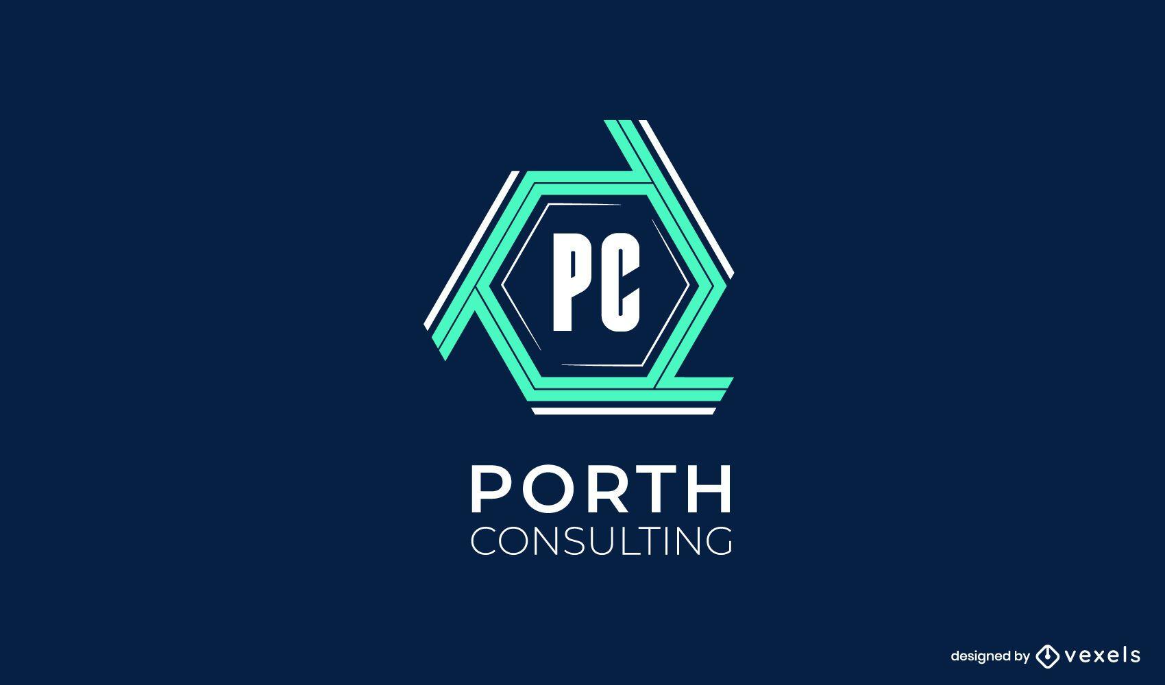 Design de logotipo da Porth Consulting