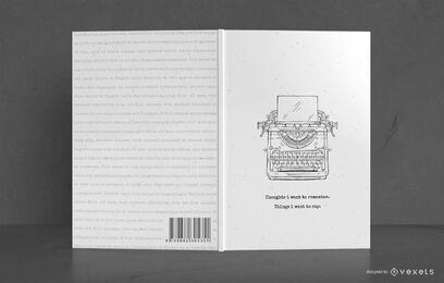 Design de capa de livro de escritor