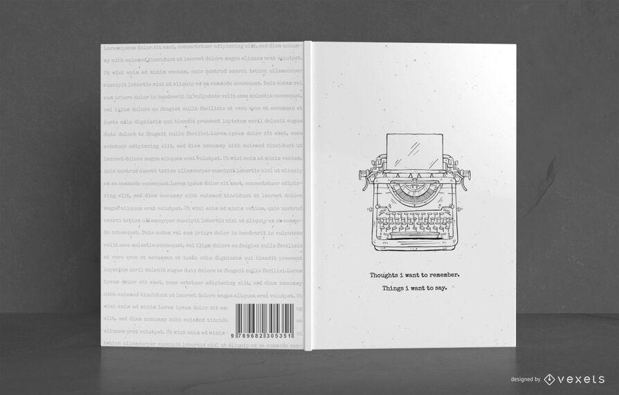 Design da capa do livro do escritor