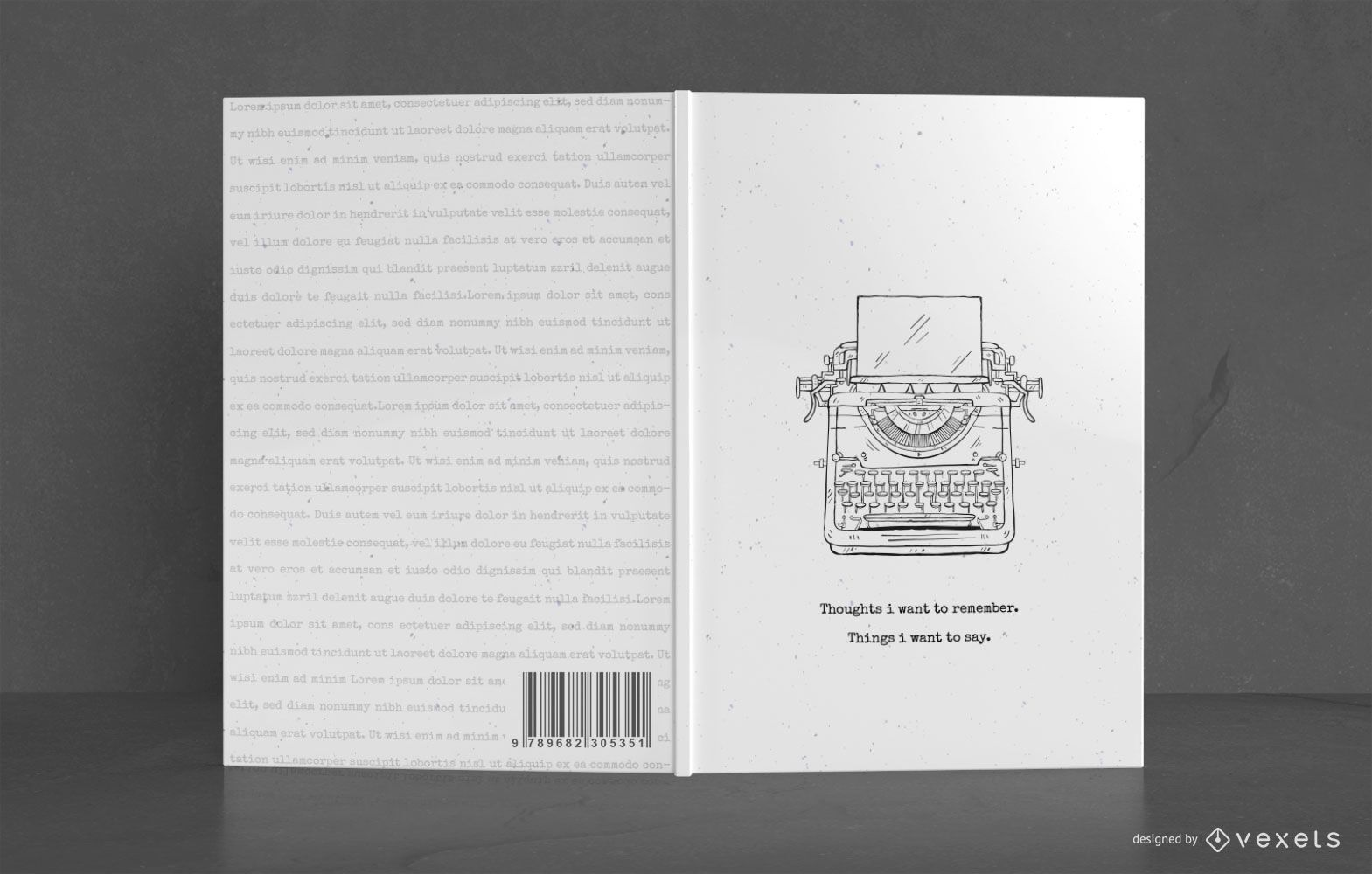 Diseño de portada de libro de escritor