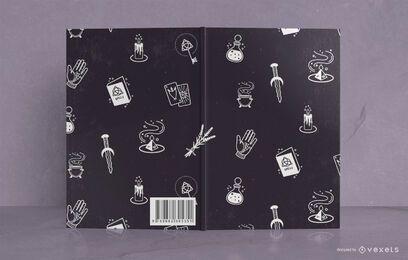 Diseño de portada de libro de diario místico