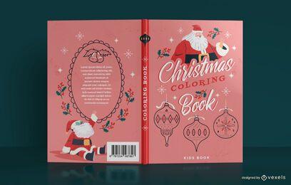 Weihnachten Malbuch Cover Design