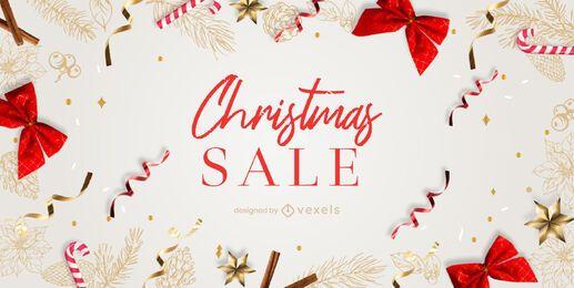 Modelo de controle deslizante de venda de Natal
