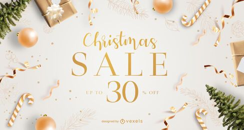 Design deslizante de venda de Natal
