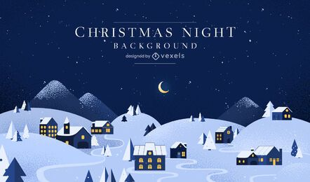 Christmas night background design