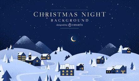 Diseño de fondo de noche de navidad