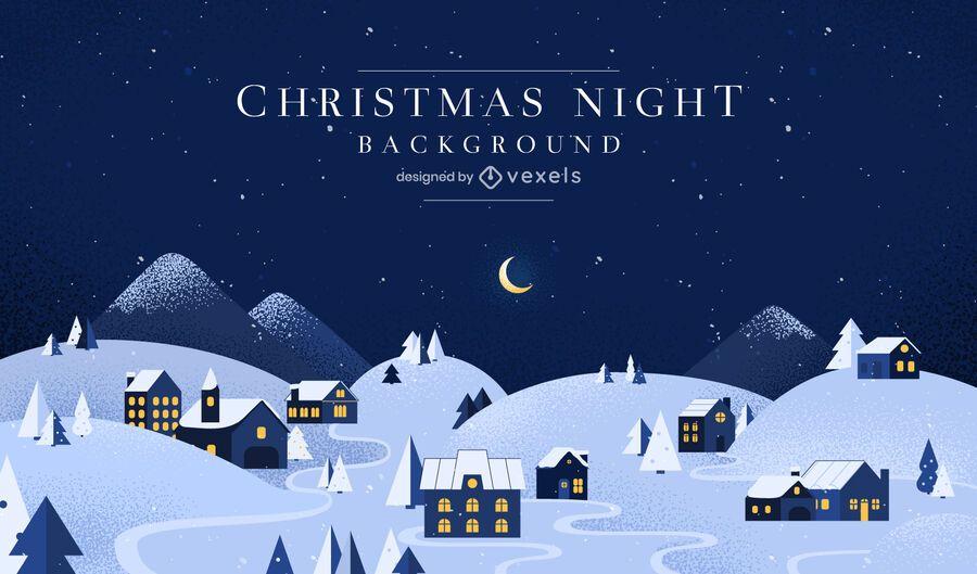 Diseño de fondo de la noche de navidad