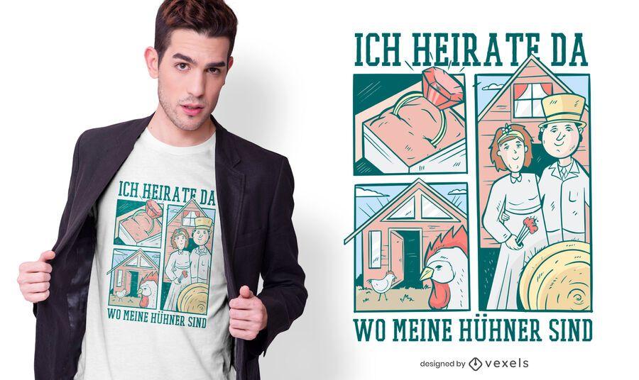 Marry chicken german t-shirt design