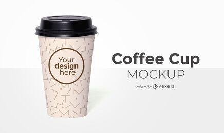 Design de maquete de xícara de café