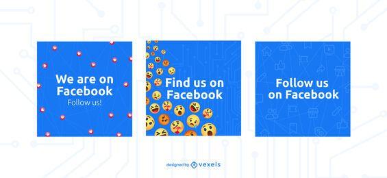 Wir sind auf Facebook Banner Set