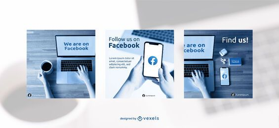 Facebook banner set template