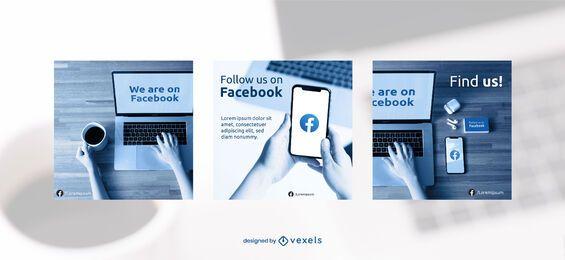 Modelo de conjunto de banner do Facebook
