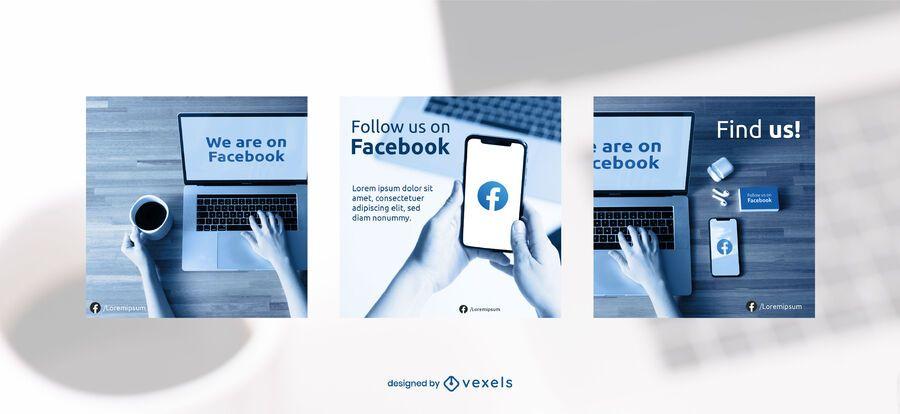 Facebook banner set template
