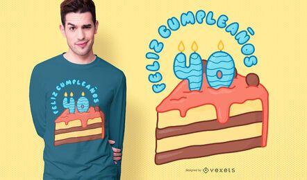 Diseño de camiseta feliz cumpleaños