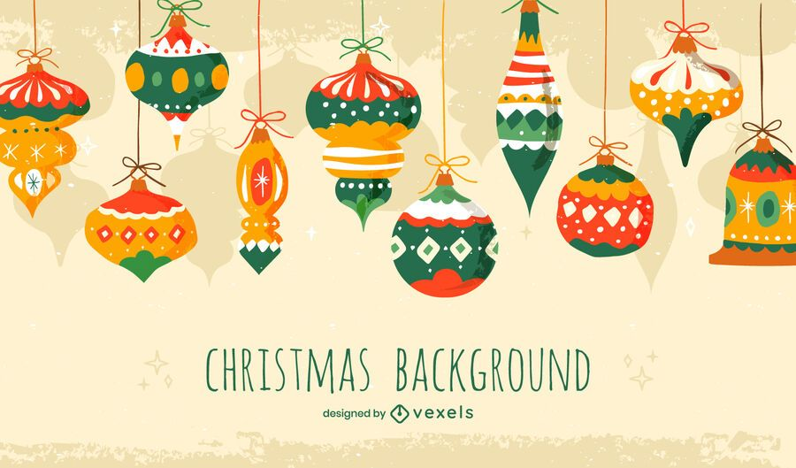 Christmas ornament background design