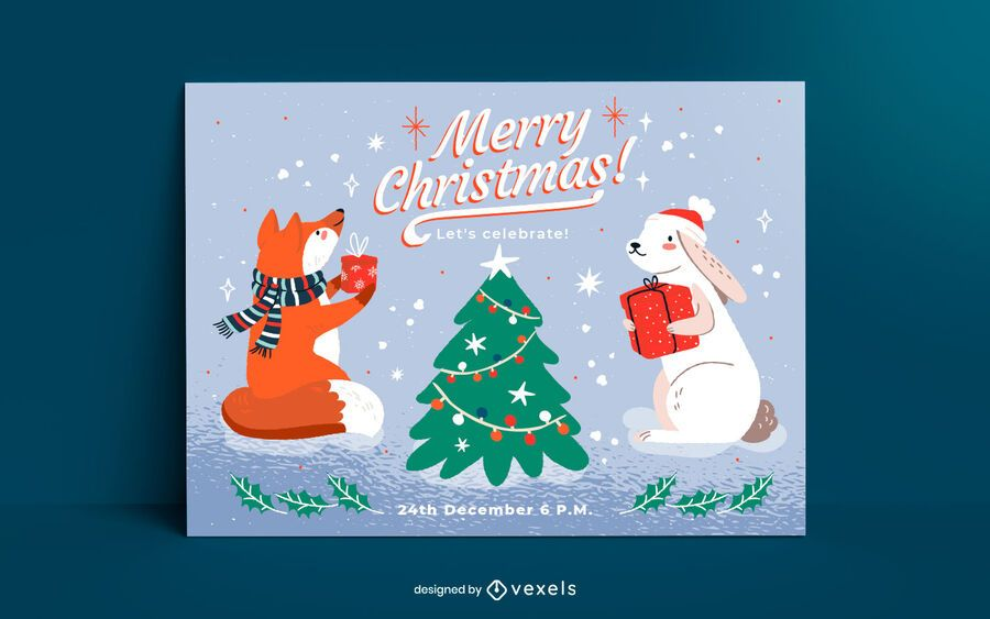 Christmas card template design