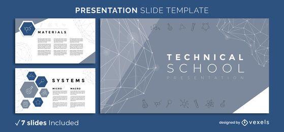 Präsentationsvorlage für die technische Schule