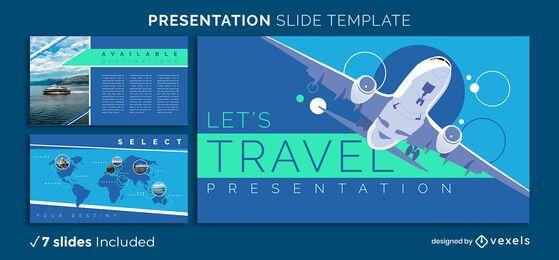 Modelo de apresentação de viagens