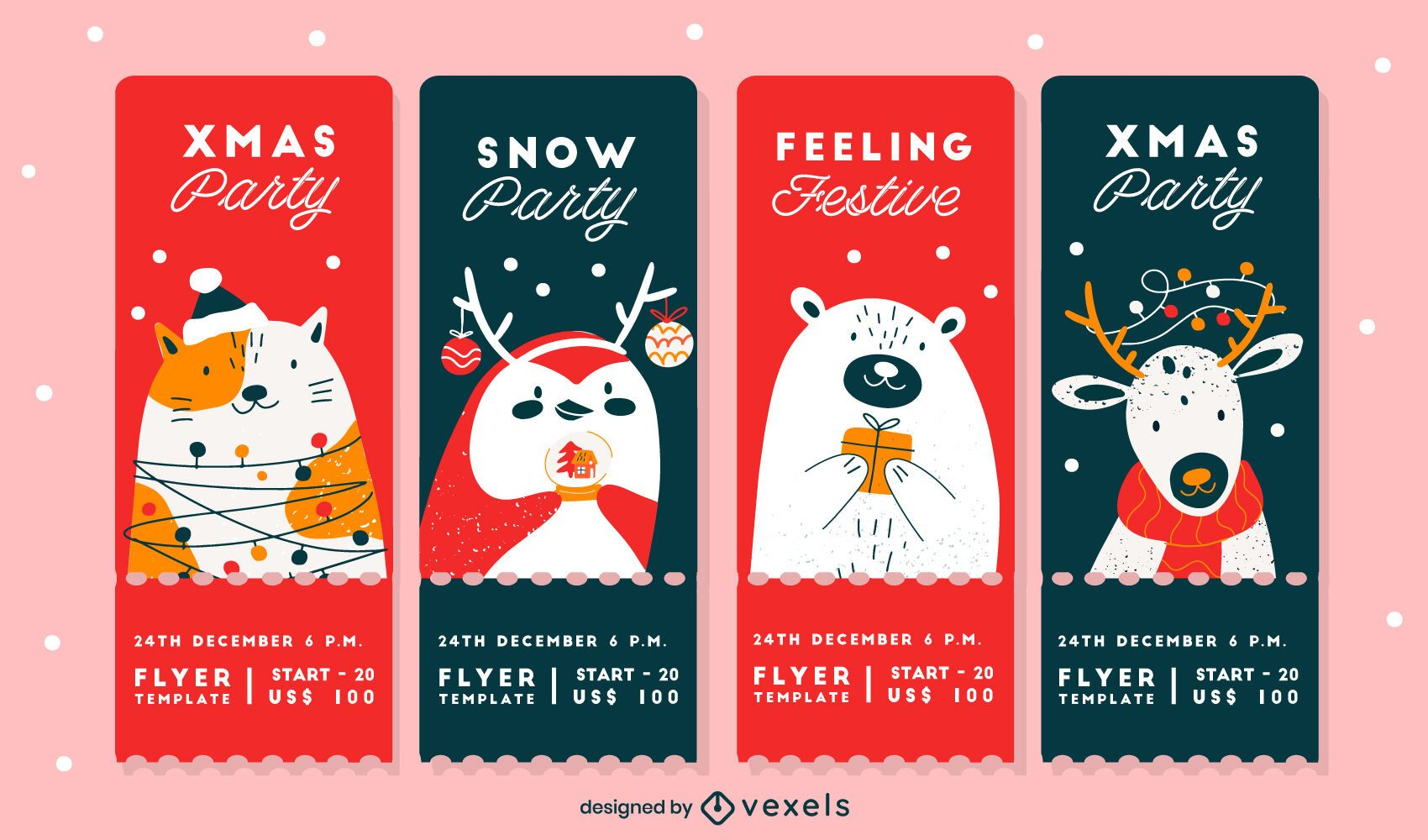 Christmas Party Cards Design Pack