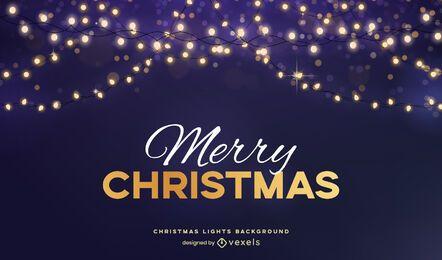 Christmas light background design