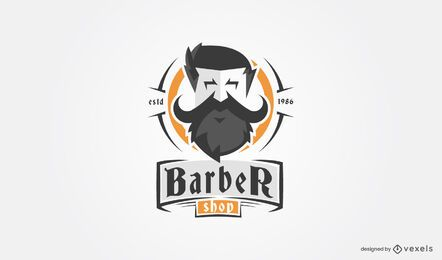 Barber shop beard logo template