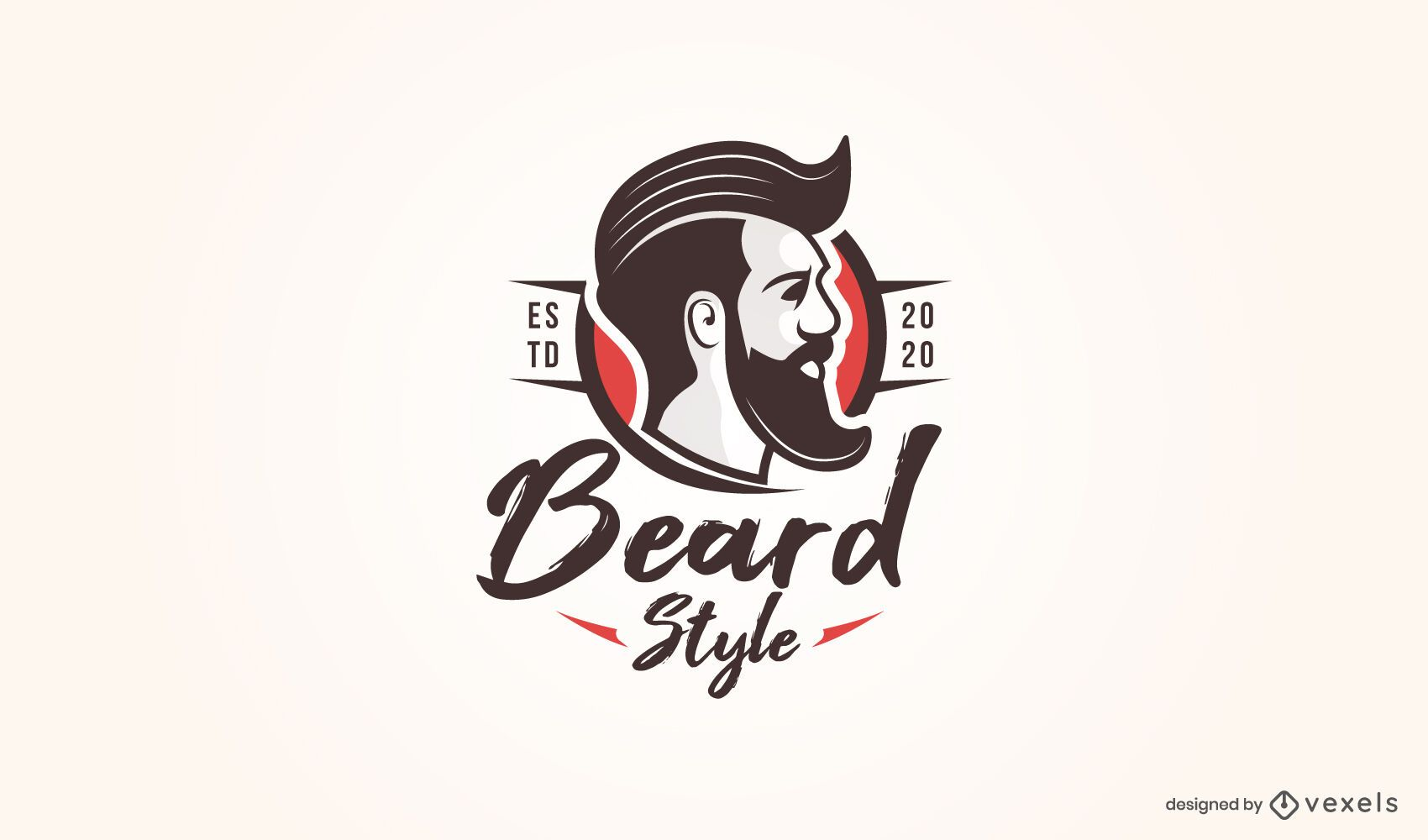 Beard style logo template