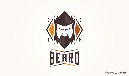 Plantilla de logotipo de estilo de pelo facial