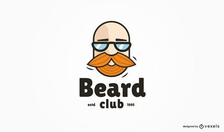 Modelo de logotipo do Beard Club