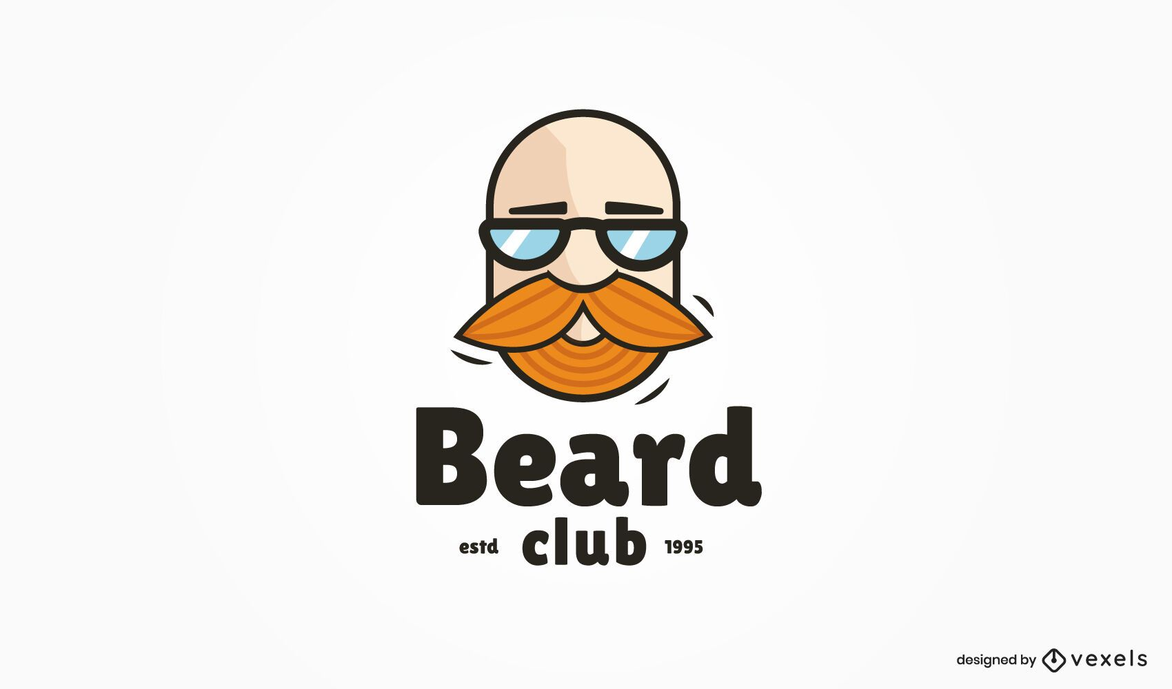 Beard club logo template