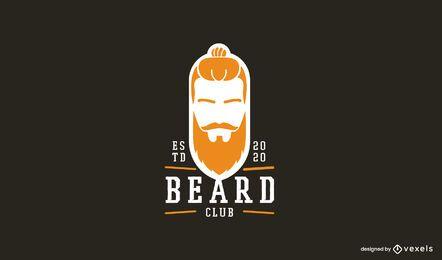 Langer Bart Logo Vorlage