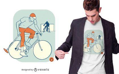 Diseño de camiseta de polo de bicicleta.