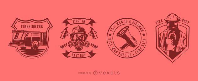 Pacote de design do emblema de bombeiro
