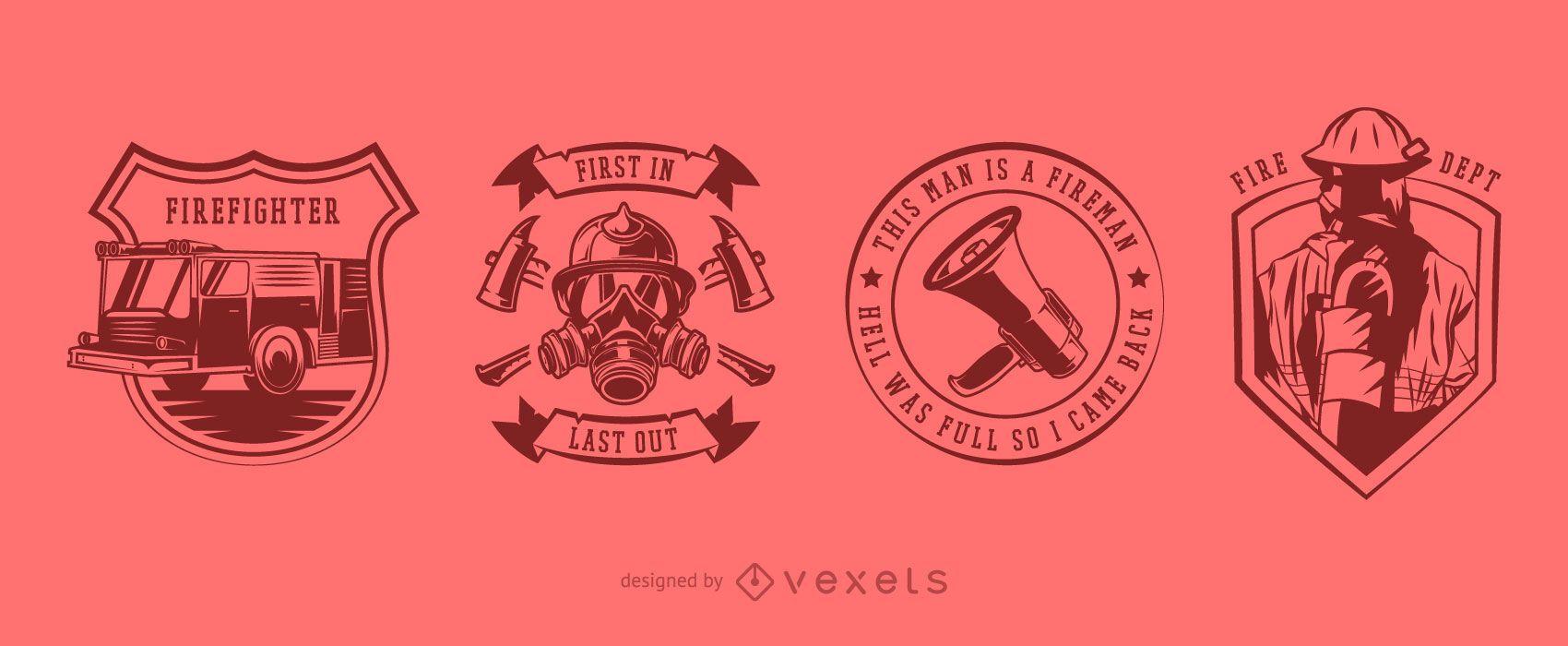 Firefighter Badge Design Pack