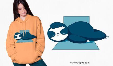 Diseño de camiseta de perezoso durmiente