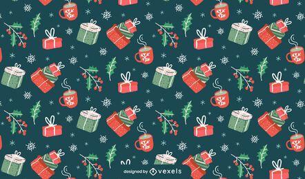 Regalos de diseño de patrón de navidad