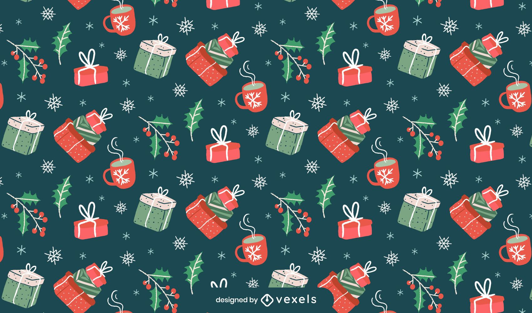 Gifts christmas pattern design