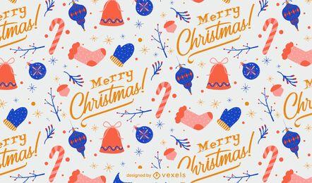 Feliz navidad diseño de patrón de invierno