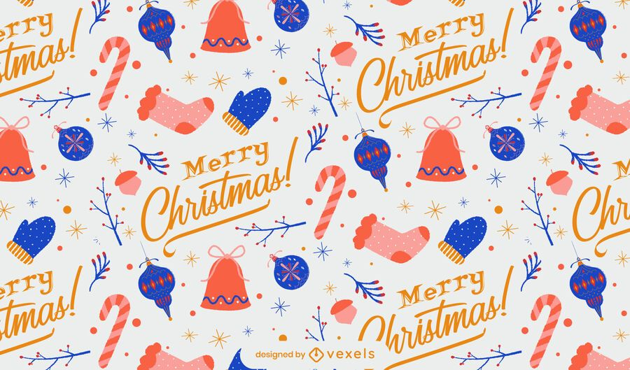 Merry christmas winter pattern design
