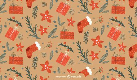 Design de padrão de meias de Natal
