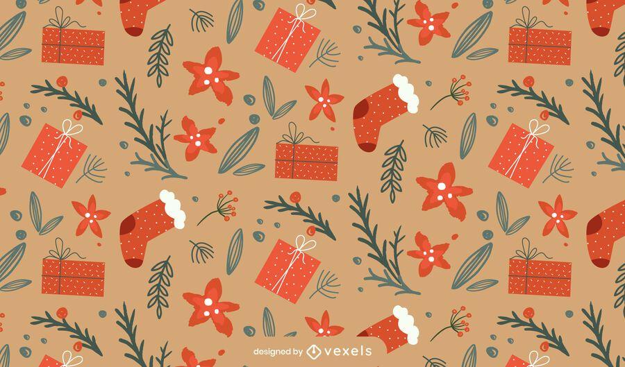 Christmas socks pattern design