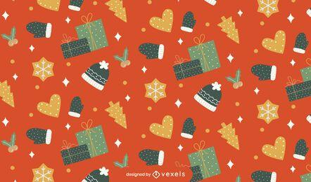 Diseño de patrón navideño brillante
