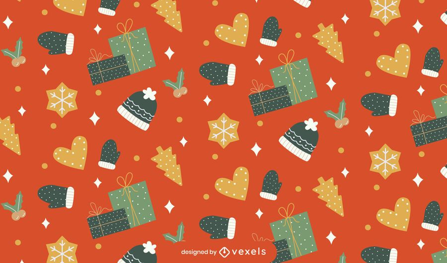 Sparkly christmas pattern design