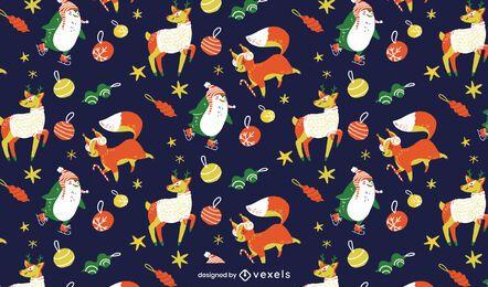 Weihnachts-Tiermusterentwurf