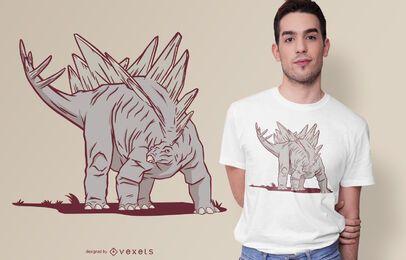 Diseño de camiseta de dinosaurio Stegosaurus