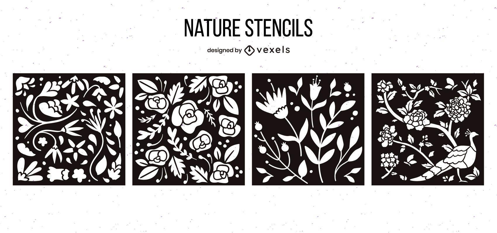 Paquete de diseño de plantillas de naturaleza