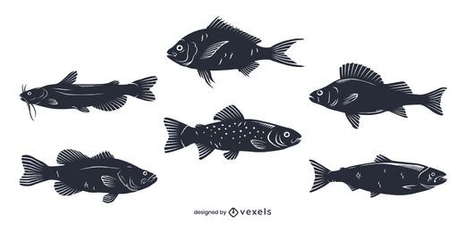 Freshwater Fish Silhouette Pack