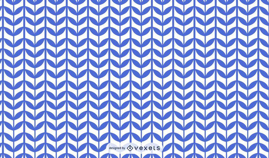 Blue plant stem pattern design