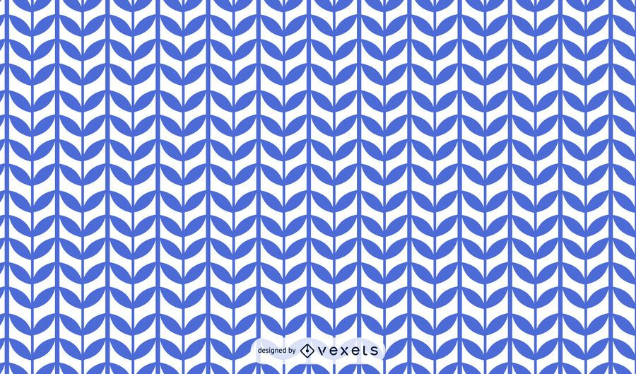 Desenho de padrão de caule de planta azul